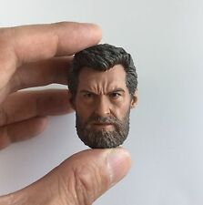 Custom Logan Hugh Jackman Wolverine 1/6 Head Sculpt for eleven Hot Toys Body