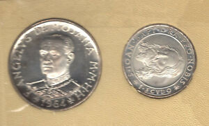 1964 ORDER OF MALTA 2 COIN SILVER PROOF SET