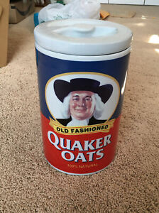 Vintage 1997 Quaker Oats Ceramic Cookie Jar 120th Anniversary Limited Edition