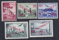 Germany occupation of Serbia 1941 Airmail stamps with overprint, MH