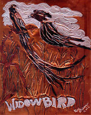 """""""WIDOWBIRD"""" by Ruth  Freeman  ETCHED COPPER FOIL 8"""" X 10"""""""