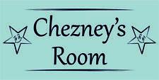 Blue Stars Personalised Door Name Plaque Boys Bedroom Room Sign Custom Made (B)
