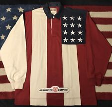 Vintage Tommy Hilfiger Usa Flag Stars Rugby Shirt M Stadium Hi Tech Lotus Beach