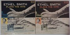 Ethel Smith Autograph on 2 Set Records - Signed