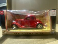 1934 Ford Coupe Red Motormax 73217 1/24 Scale Diecast Model Toy Car