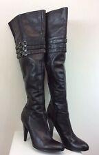 Women's Calvin Klein Waverly Boots Black Leather Size 8 M