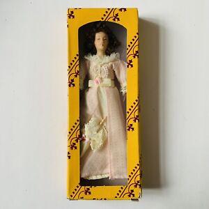 "Vintage ""Del Prado"" Dolls House Doll | Victorian Lady in Pale Pink Dress"