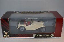 ERTL Yat min Road Signature MG TC Midget 1947 white 1:18 mint in BOX