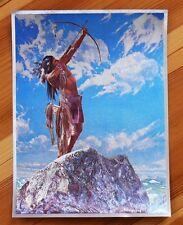 Alu-Bild Indianer 16x21 cm, Country Western Saloon Deko, Alubild Indian Native