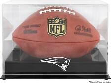 New England Patriots Black Base Football Display Case - Fanatics