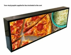 """OUTDOOR LED LIGHT BOX SIGN 12""""x 48''x5"""" WITH FULL COLOR DIRECT PRINT GRAPHICS"""