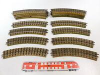 CB165-2# 18x Märklin H0/00/AC Gleisstück (M-Gleis) für 3600/800 Vollprofil