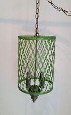 Hanging Metal Mesh Boho Shabby Chic Lamp Pendant Chandelier Funky Green