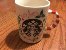 Starbucks 2018 Christmas Holiday Mug Candy Cane Handle Ceramic 12oz
