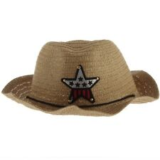 Cute Baby Kids Children Boys Girls Straw Western Cowboy Sun Hat Cap Gift U7Q1