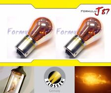 Flosser PY21W 21W 6671SV Amber Orange Light Two Bulbs Front Turn Signal Replace