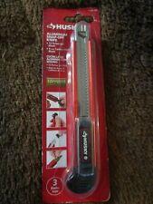 Husky 9MM Carbon Steel Blade Snap Off Blade Knife Self Loading 3 Blades Aluminum