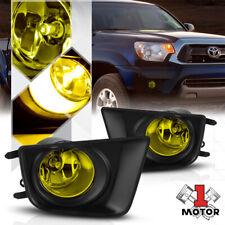 Golden Yellow Lens Fog Light Bumper Lamps w/Bezel for 12-16 Toyota Tacoma Pair