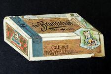 Antique vtg BRUNSWICK CIGAR Box Tobacco METAMORPHIC Folding TRADE CARD