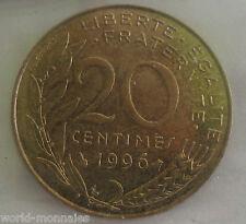 20 centimes marianne 1996 : TTB : pièce de monnaie française