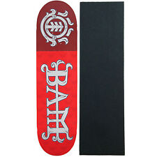 "Element Skateboard Deck Bam Margera LTD Red 8.2"" (Limited Edition) With Pro Grip"