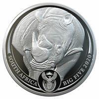 2020 Big 5 African Black Rhino 1 oz Silver Coin GEM Proof SKU61184