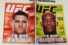 Anderson Silva & Chris Weidman Signed UFC 360 Magazine BAS Beckett COA Autograph