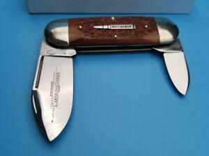 Queen 1998 Winchester Burnt orange bone Handle Elephant Toenail Sunfish Knife
