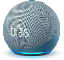 Amazon Echo Dot 4th Generation Smart Speaker with Clock and Alexa -Twilight Blue