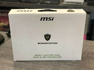 MSI WE62 7RJ ***BOX ONLY *** No Laptop Included