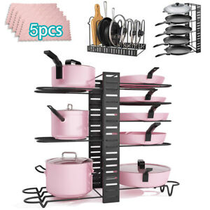 Pfannenhalter für Küche Topfdeckelhalter Pan Organizer Pfannenabdeckung Regal DE