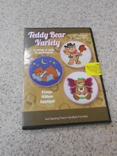 DAKOTA COLLECTIBLES TEDDY BEAR VARIETY 20 DESIGNS 4X4 SEWING FIELD