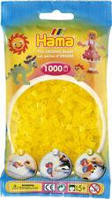 Hama 1000 Midi Bügelperlen 207-14 Transparent-Gelb Ø 5 mm Perlen Steckperlen