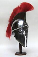 Corinthian Armor Helmet W/Red Plume~Medieval Knight Crusader Spartan Helmet Item