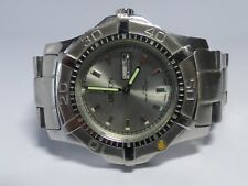 Vintage Croton Mens Diver Style Moving Bezel Quartz Watch Hours~New Battery
