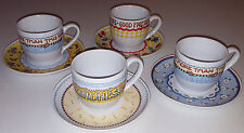 Mary Engelbreit Tea Cup & Saucer Collection 4 Sets