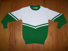 Cheerleader Sweater White over Green - Girls Size 12 - Msu Spartans, etc
