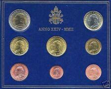 Pièces en euro du Vatican, année 2002