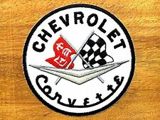 CHEVROLET Corvette Embroidered Patch Iron on or sew Racing Super Sports Car
