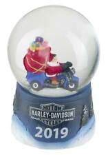 Harley-Davidson Winter 2019 Sculpted Biker Santa Glass Mini Snow Globe HDX-99143