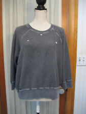 n: Philanthropy Distressed Terry Sweatshirt in Gray Size Large
