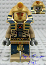 NEW Lego Minifig Pharaoh's Quest AMSET-RA - Gold Halloween Mummy Minifigure 7327