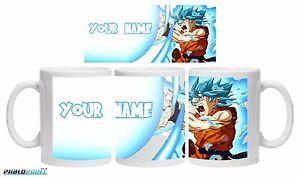 New Goku SSJ Blue Kamehameha Dragon Ball Super DBZ mug 11oz Name Gift Birthday