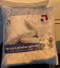 "Oreiller a mémoire de forme ""L'oreiller Français"" 60x60cm"