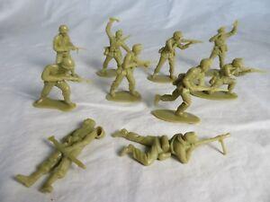 AIRFIX & MARX WWII GERMAN Afrika Korp Toy Soldiers - COPIES - (54MM) - Tan