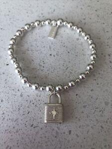 Chlobo Silver Padlock Bracelet