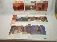 Sansui 12 Vintage SP Speaker Brochure Lot 30 100 200 2700 3000 5000 7500X Etc