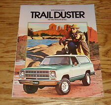 Original 1979 Plymouth Trail Duster Sales Brochure 79