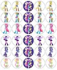 MY LITTLE PONY EQUESTRIA GIRL decorazioni per cupcake wafer commestibile Buy 2 get 3 ° GRATIS!