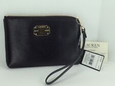 Women's RALPH LAUREN POLO Large Black LEATHER Wallet - $98 MSRP